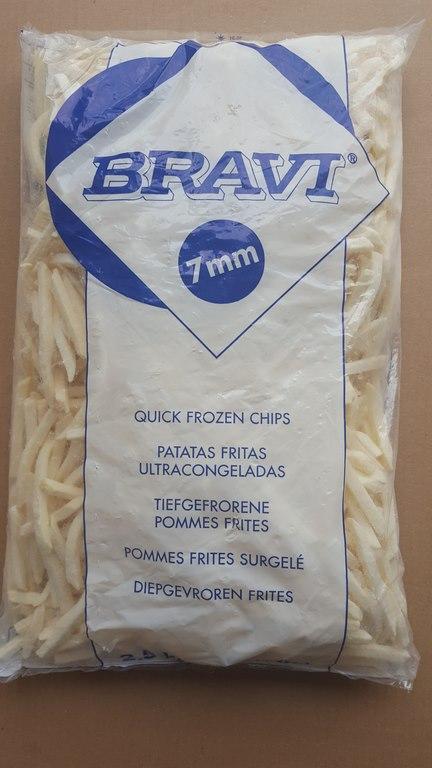 Помфрит BRAVI GOLD 7mm 2.5 кг