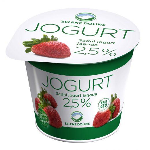 Овошен јогурт – јагода 250 гр