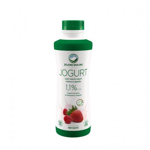 Овошен јогурт јагода и малина 500 гр